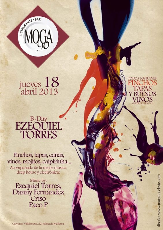 B-day Ezequiel Torres@Moga90 - Events - Cena concierto
