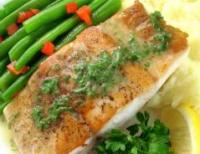 Filets de poisson pan� aux amandes