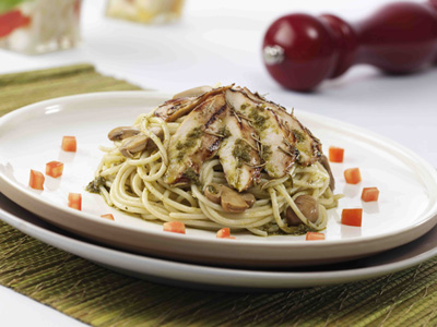 Grilled Chicken and Pesto Cream Pasta  Recipe - Pasta, Main Courses, Filipino recipes,