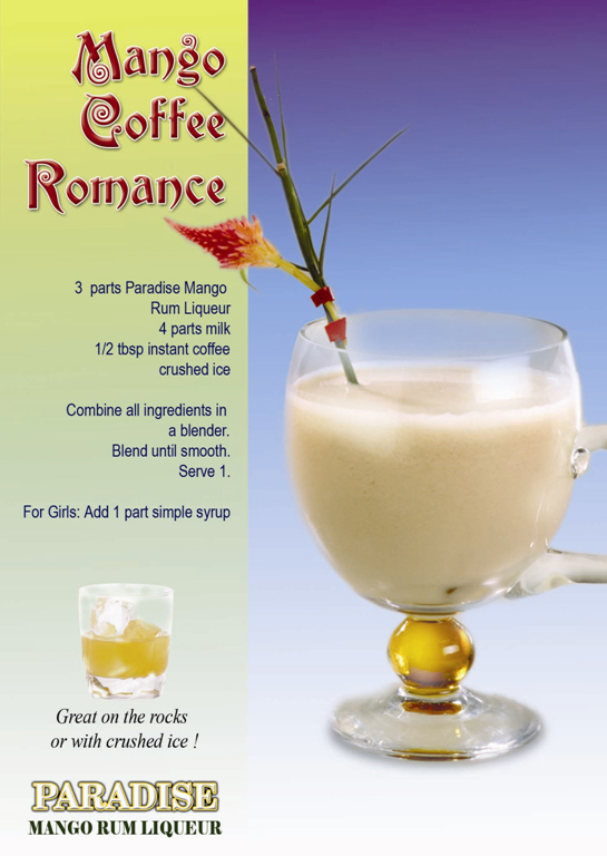Mango Coffee Romance Recipe - Cocktails, Party Food & Cocktails, Filipino recipes,