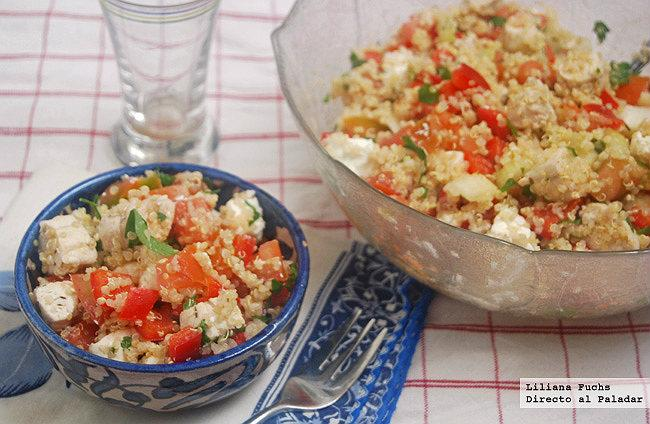 Ensalada mediterránea de quinoa con pollo Recipe - Salads, Dinner, Spanish recipes, Low-fat