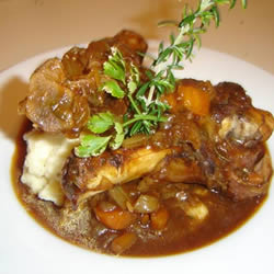 Irish Stout-Braised Lamb Shanks