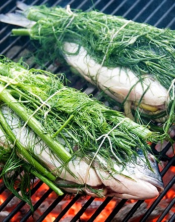 Grilled fish with fennel