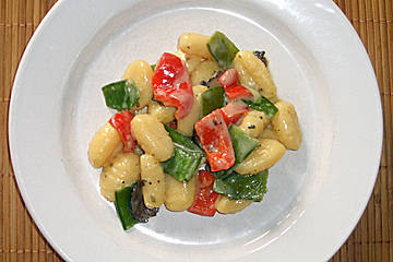 Gnocchi mit Garnelen - Trffel - Krutersoe Recipe - Pasta, Main Courses, Italian recipes, 